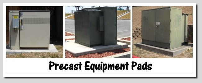 Equipment pads precast warehouse texas for Air conditioner pad concrete