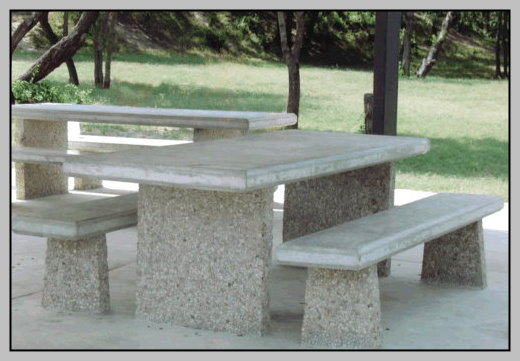 10 Tables Benches With Exposed Aggregate Legs